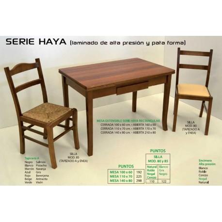 Mesa y sillas de cocina Serie Haya II