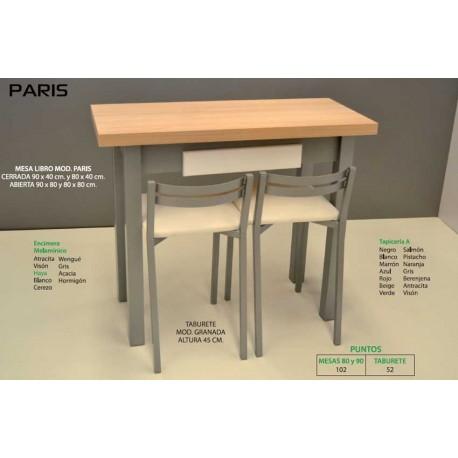 Mesa y taburetes de cocina París III